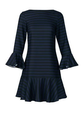 Navy Flounce Dress by Sail to Sable