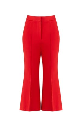 Red Jane Pants by Tibi