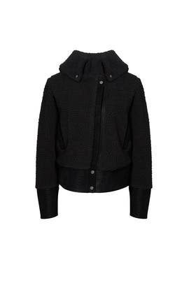 Black Juno Moto Jacket by Saylor