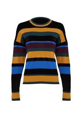 Chenille Stripe Pullover by Jason Wu Grey
