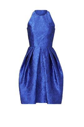Royal Blue Cutaway Dress by Carmen Marc Valvo