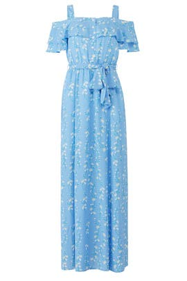 Blue Daisy Printed Maxi by Draper James