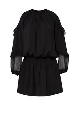Black Duffy Dress by Ramy Brook