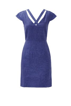 Chambray Hatch Dress by Slate & Willow