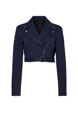 Brushed Twill Moto Jacket by Tibi