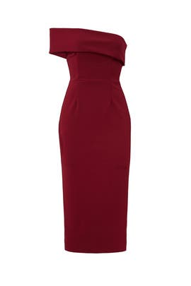 Bordeaux Apollo Dress by Katie May