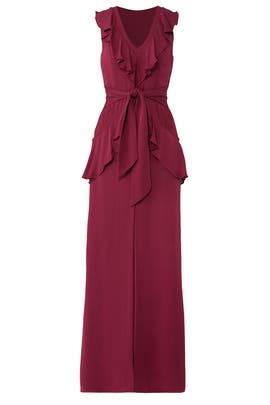 Burgundy Rossie Gown by Parker
