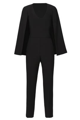Black Cape Jumpsuit by Trina Turk