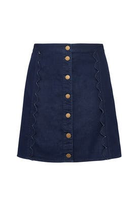 Scallop A Line Denim Skirt by Draper James X ELOQUII
