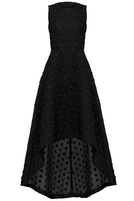 Black Sparkle Dot Dress by Hunter Bell