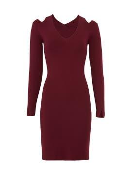 Burgundy Veronica Dress by John + Jenn