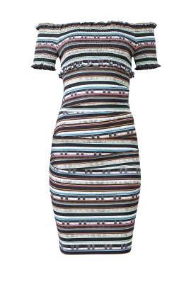 Paradise Stripe Sheath by Nicole Miller