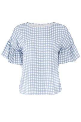 Blue Gingham Blouse by Slate & Willow