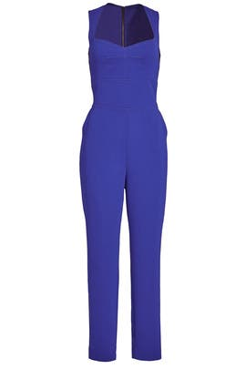Cobalt Cutout Jumpsuit by Yigal Azrouël