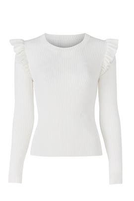 White Sloann Sweater by Cinq à Sept