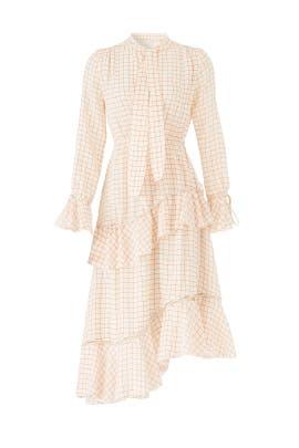 Tiered Windowpane Dress by Derek Lam 10 Crosby