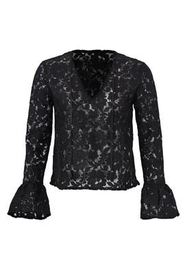 Black All Over Lace Top by Endless Rose