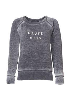 Grey Haute Mess Sweatshirt by Milly