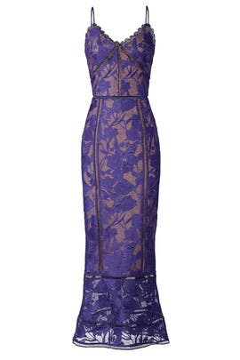 Purple Lace Dress by Marchesa Notte