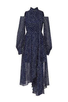 Navy Dot Maxi by StyleKeepers