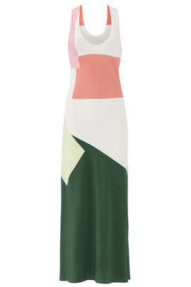 Pieza Print Maxi Dress by Tibi