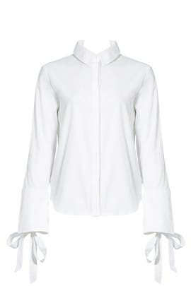 White Oxford Tie Top by C/MEO COLLECTIVE