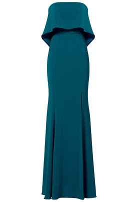 Teal Clarke Gown by Jay Godfrey