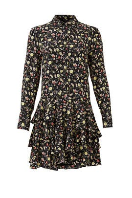 Painterly Floral Shirtdress by Jason Wu Grey