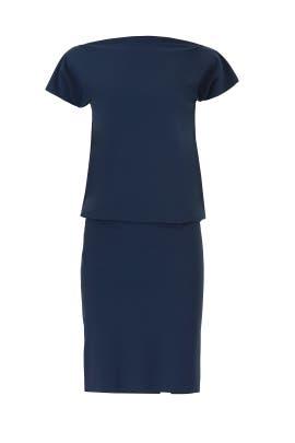 Blue Shirley Blouson Dress by La Petite Robe di Chiara Boni
