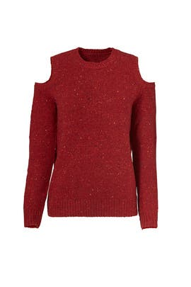 Red Page Cold Shoulder Sweater by Rebecca Minkoff
