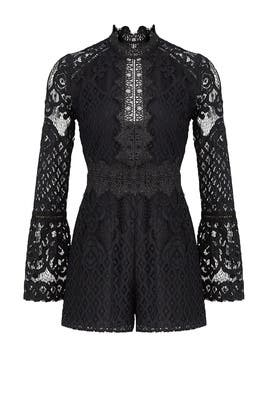 Lena Woven Lace Romper by Adelyn Rae