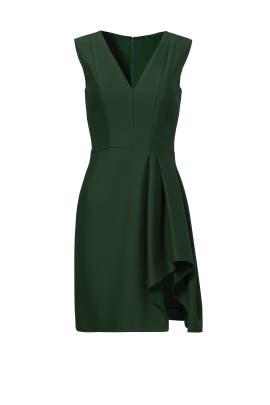 Plunge Neck Draped Slit Dress by J. Mendel