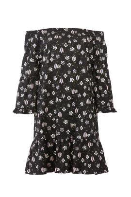 Printed Flare Sleeve Dress by ELOQUII