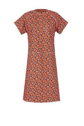 Orange Floral Garden Dress by Marni