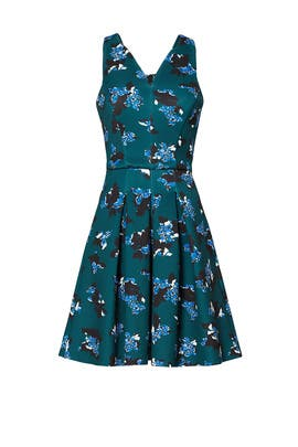 Printed Ice Skater Dress by Slate & Willow