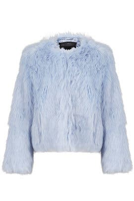Blue Faux Fur Jacket by Unreal Fur