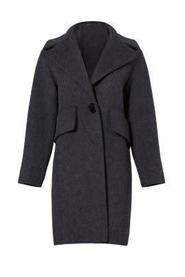 Charcoal Military Pea Coat by Derek Lam 10 Crosby