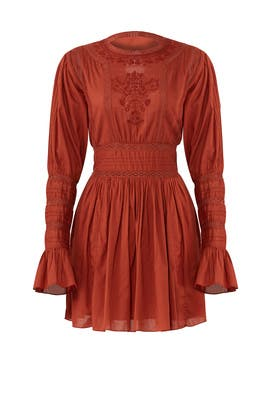 Red Victorian Dress by Free People