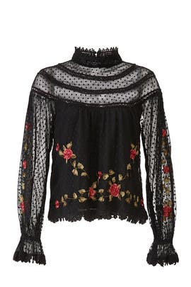 Dalilah Embroidered Top by Saylor