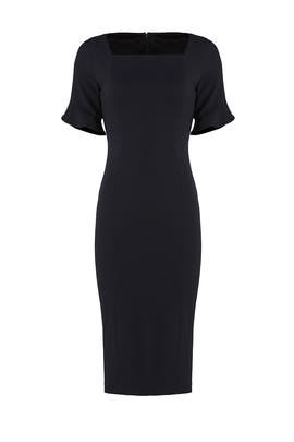 Navy Square Dress by Donna Morgan
