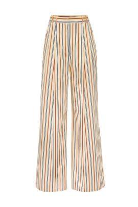 Yellow Stripe Pants by Jil Sander Navy