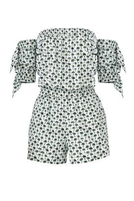 Palm Tree Zoey Romper by Milly