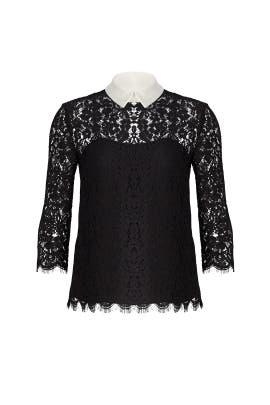 Black Oliver Lace Top by Rachel Zoe