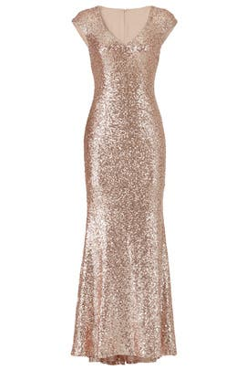 Rose Gold Kaylee Gown by Theia