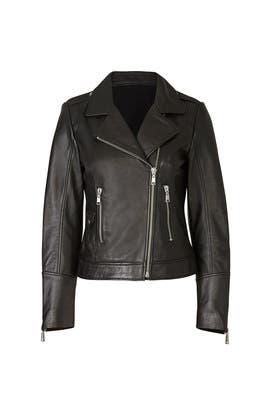 Black Biker Leather Jacket by DOMA