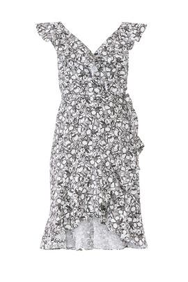 Printed Floral Wrap Dress by ELOQUII