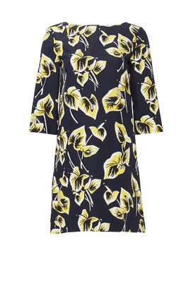 Gabardine Amlapura Print Dress by Marni