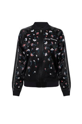 Black Floral Bomber Jacket by Opening Ceremony