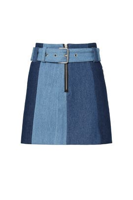 Denim Trio Vane Skirt by VEDA