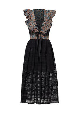 Floral Crochet Midi Dress by Philosophy di Lorenzo Serafini